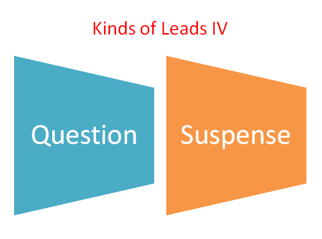 Kinds of Leads IV: Question, Suspense -