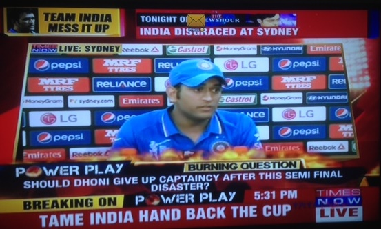 TV channels savage Dhoni after Sydney defeat -